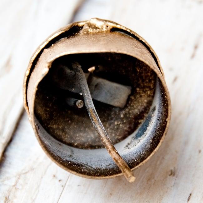 【3個セット】手作りのやさしい音色 インドの銅製ベル-【2cm*2.5cm】の写真4 - 内部の写真です