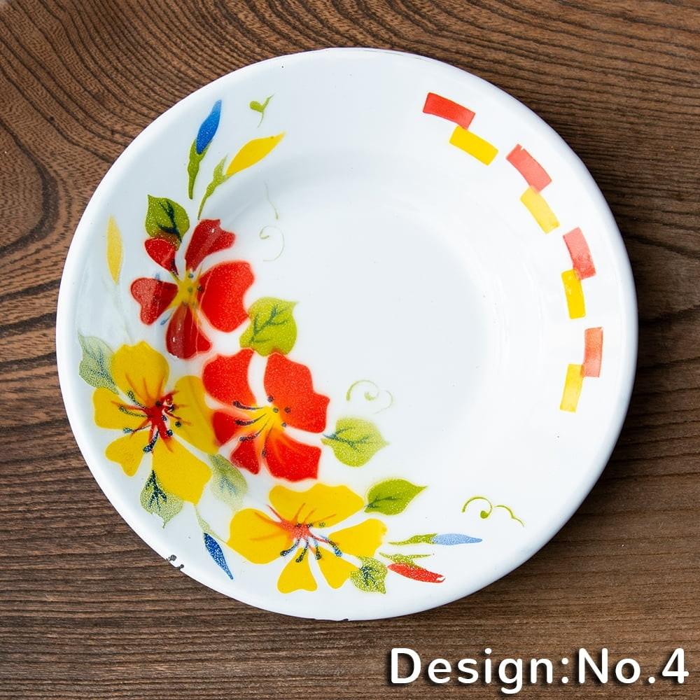タイのレトロホーロー 花柄飾り皿 RABBIT BRAND〔約18cm×約2.7cm〕 11 - 先進諸国のプロダクトと異なり、タイの製品にはハンドメイドの工程が大きく関わっており、その精度も決して高くはありません。 そこから生じる塗装のムラやカケ・キズが手作りのぬくもりと魅力になっております。製品の特性としてお楽しみください。