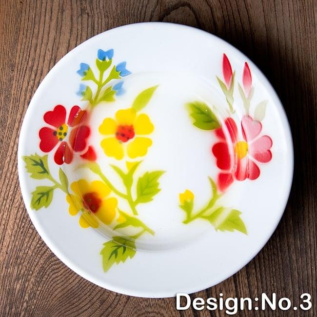 タイのレトロホーロー 花柄飾り皿 RABBIT BRAND〔約20.5cm×約3cm〕 11 - 【デザイン No.3】は、このような柄になります。