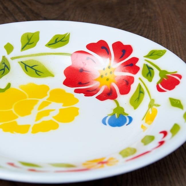 タイのレトロホーロー 花柄飾り皿 RABBIT BRAND〔約23cm×約3.2cm〕 2 - 拡大写真です