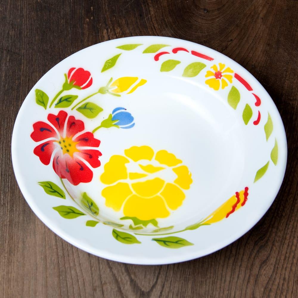 タイのレトロホーロー 花柄飾り皿 RABBIT BRAND〔約23cm×約3.2cm〕 3 - 花がらが素敵です