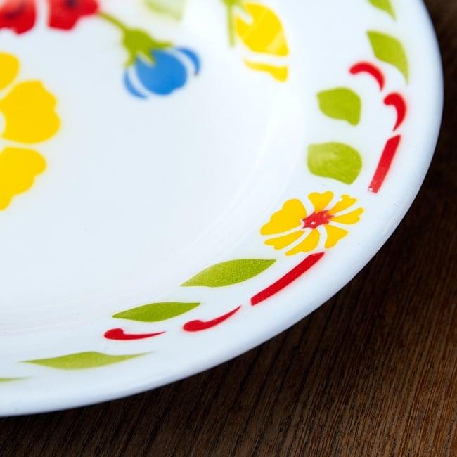 タイのレトロホーロー 花柄飾り皿 RABBIT BRAND〔約23cm×約3.2cm〕 5 - 拡大写真です