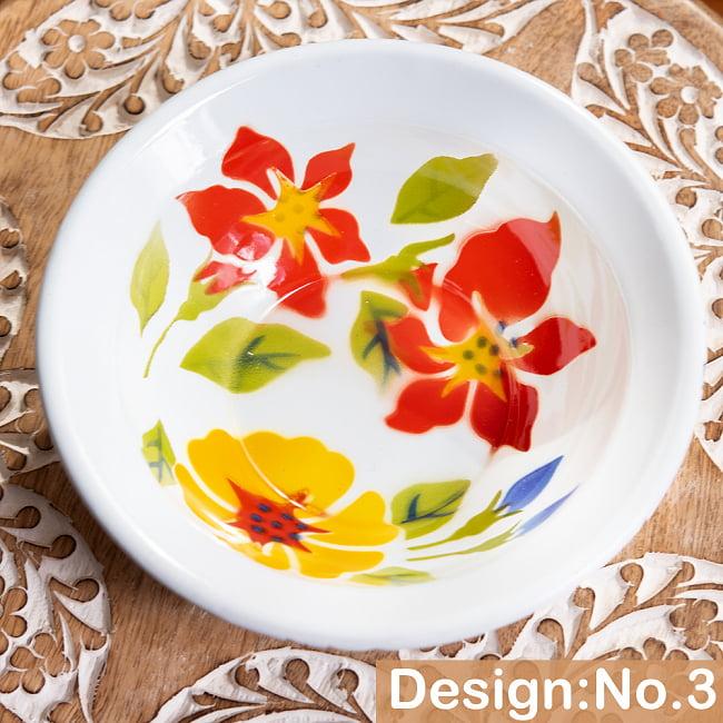 タイのレトロホーロー 花柄飾りボウル RABBIT BRAND〔約16.3cm×約4.5cm〕 10 - こちらはデザインNo.3になります。