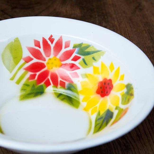 タイのレトロホーロー 花柄飾りボウル RABBIT BRAND〔約21.2cm×約6.4cm〕 2 - 拡大写真です