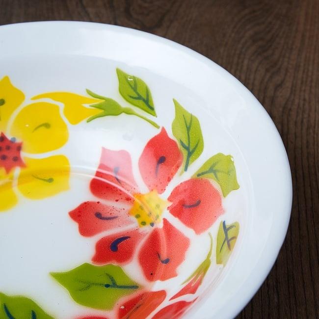 タイのレトロホーロー 花柄飾りボウル RABBIT BRAND〔約23.8cm×約6.7cm〕 5 - 拡大写真です