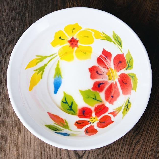 タイのレトロホーロー 花柄飾りボウル RABBIT BRAND〔約23.8cm×約6.7cm〕 1