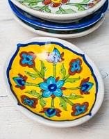 ジャイプール陶器のソープディッシュ - 黄色