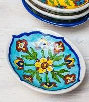 ジャイプール陶器のソープディッシュ - 水色