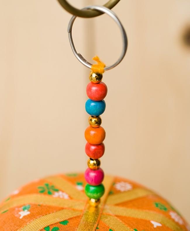 ゾウのハンギング1連【10cm程度】 オレンジの写真6 - 吊る下げ部分はこの様になっています。