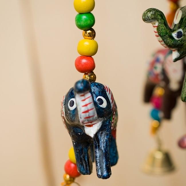 ゾウのハンギング1連【10cm程度】 緑 4 - ぞうさんをアップにしてみました。手作りなのでみんな違う表情でなんとも愛らしいです^^