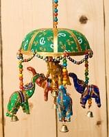 ゾウのハンギング1連【15cm程度】 緑