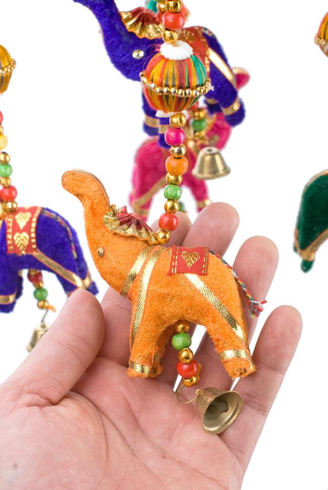 ゾウのハンギング(1連-15cm程度)-水色傘の写真6 -