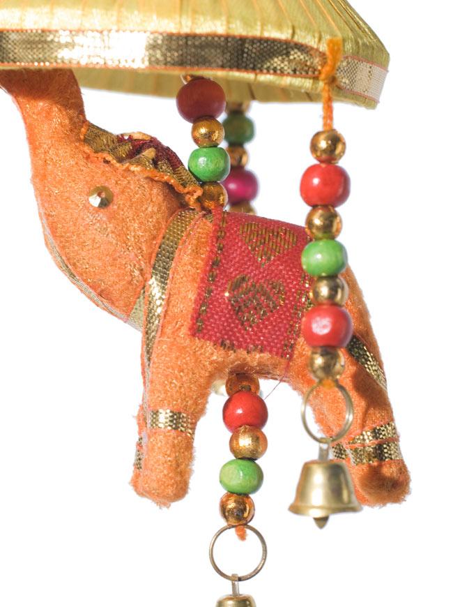 ゾウのハンギング傘-8cm 黄色 【アソート】 3 - 手作りの可愛い象さんです。目はあったりなかったりします。1点1点異なるのが手作りならではの魅力ですね^^