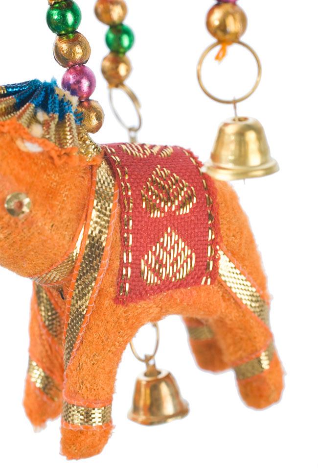 ゾウのハンギング(小)-黄傘の写真 - いかにもインド!なキュートなぞうさんです。