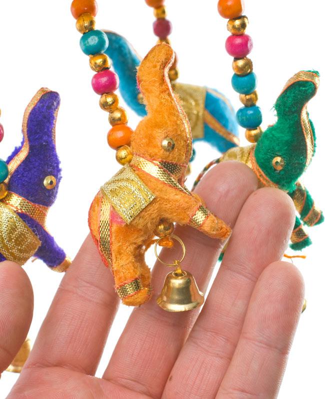 ゾウのハンギング(10.5cm程度)-青傘の写真7 - いかにもインド!な可愛いデザインです