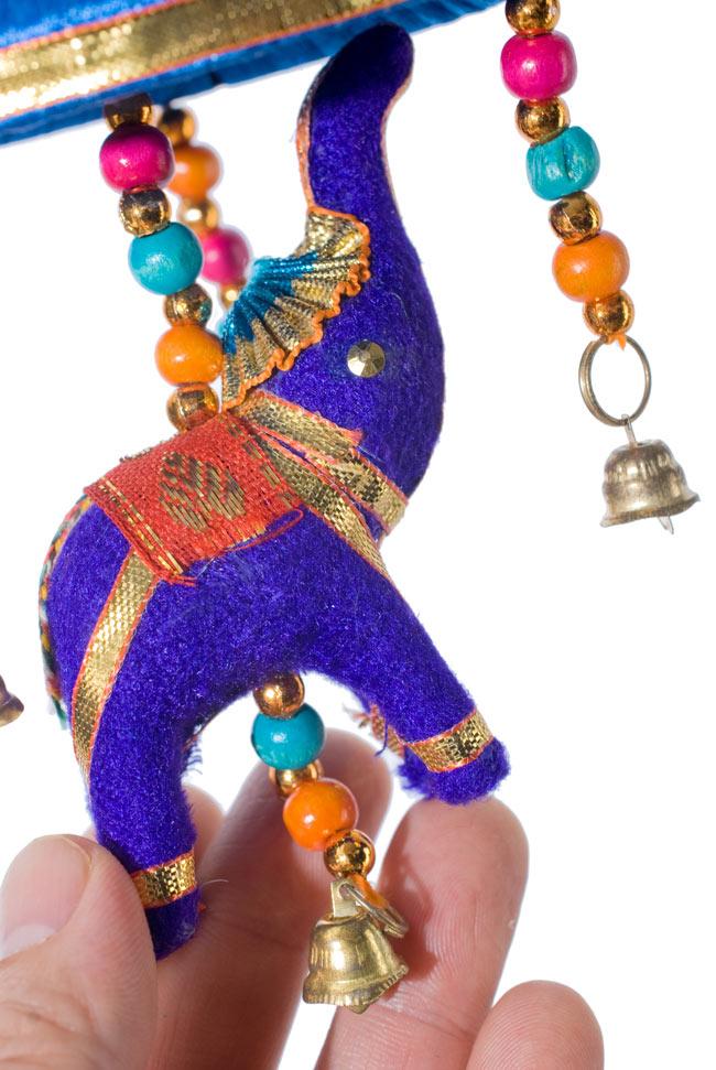 ゾウのハンギング傘-8cm ネイビー 【アソート】 3 - 手作りの可愛い象さんです。目はあったりなかったりします。1点1点異なるのが手作りならではの魅力ですね^^