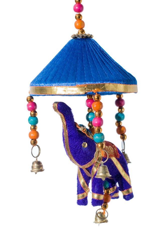 ゾウのハンギング傘-8cm ネイビーの写真