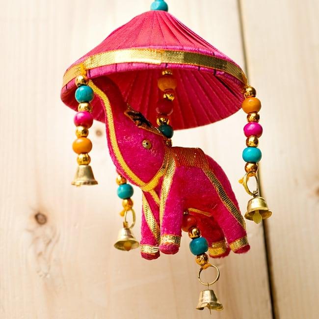 ゾウのハンギング傘-8cm ピンクの写真3 - ぞうさんをアップにしてみました。