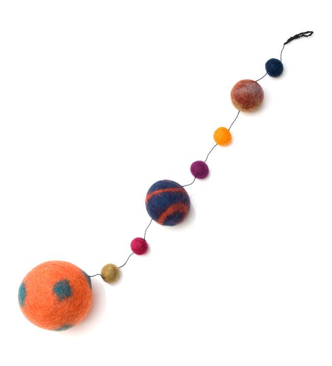 フェルトボールのコスモハンギング 【約50cm】の写真
