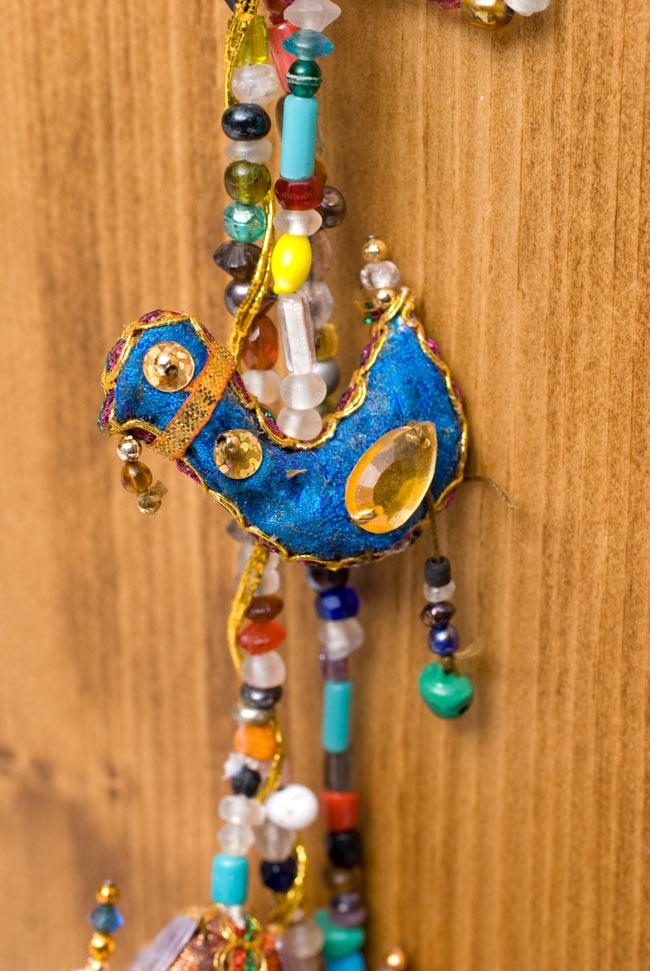 インドのU字型ハンギング - 3連孔雀の写真5 - かわいいひよこです
