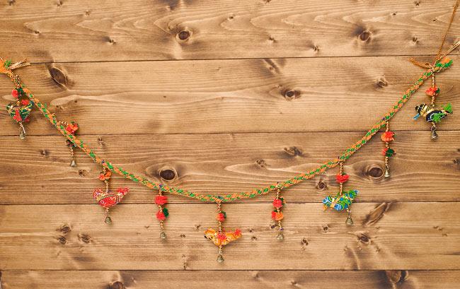 インドのU字型ハンギング - 鳥さんの写真5 - 部屋に飾ると賑やかになりますね!