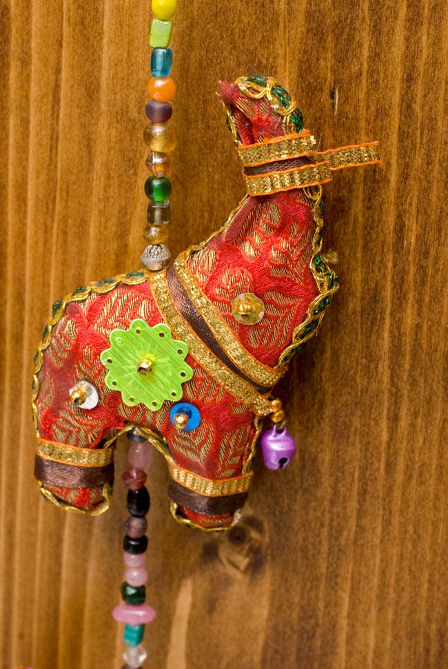 インドの四連ぞうさんハンギングの写真4 - カワイイデザインです