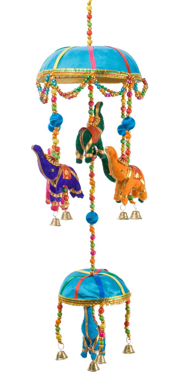 ゾウのハンギング2連-15cm オーシャンの写真