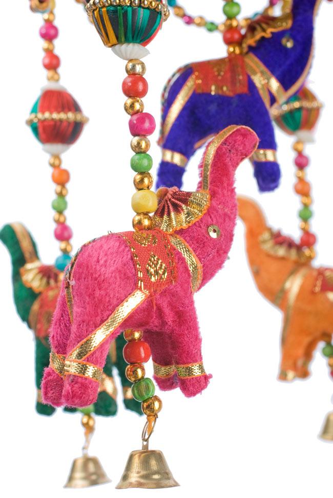 ゾウのハンギング(1連-15cm程度)-赤紫傘の写真4 -