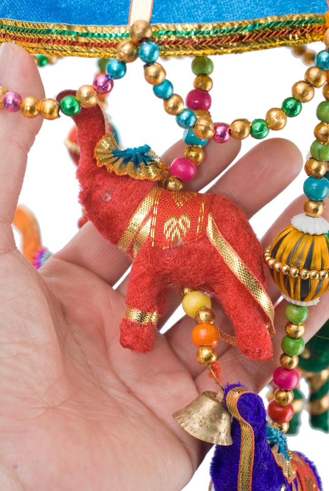 ゾウのハンギング(1連-15cm程度)-赤紫傘の写真8 -