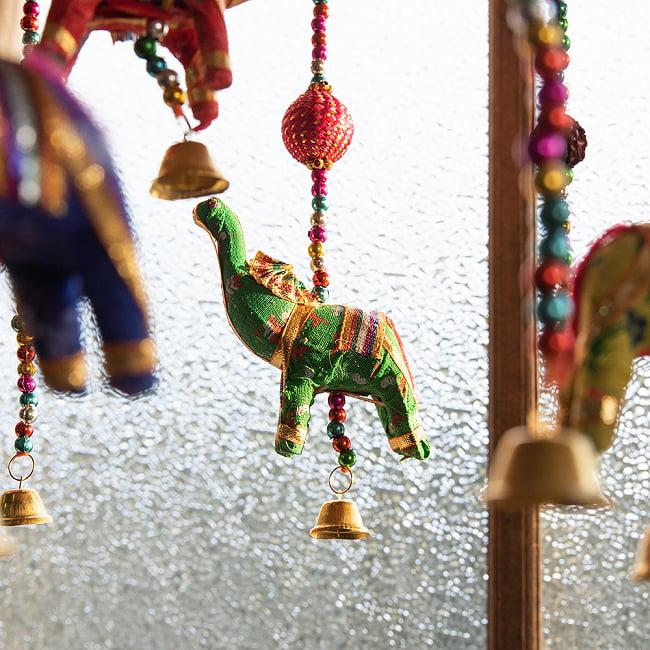 【5色展開】ゾウのハンギング1連 - 23cm 3 - 表情や顔のつくりが様々なぞうさんです。