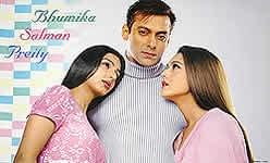 【特大】ブミカ・チャウラ(Bhumika Chawla)、サルマン・カーン(Salman Khan)とプリティー・ジンタ(Preity Z