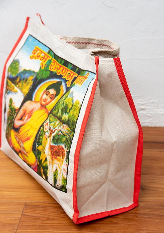 マサラ帆布バッグ[ガネーシャ] 3 - 表面を平らに撮影しました(写真は選択Aのものです)