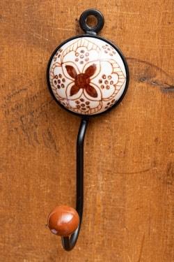 アジアンデザインの壁掛けフック ラウンド - チェリーフラワーの商品写真