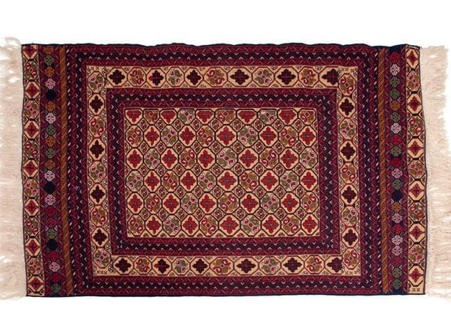 アフガニスタン・トライバルキリム[ウール100% ] 11 - 全体のデザインはこんな感じです。