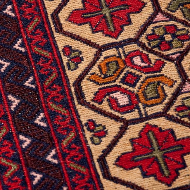 アフガニスタン・トライバルキリム[ウール100% ] 3 - 拡大です。丁寧に手作りされています