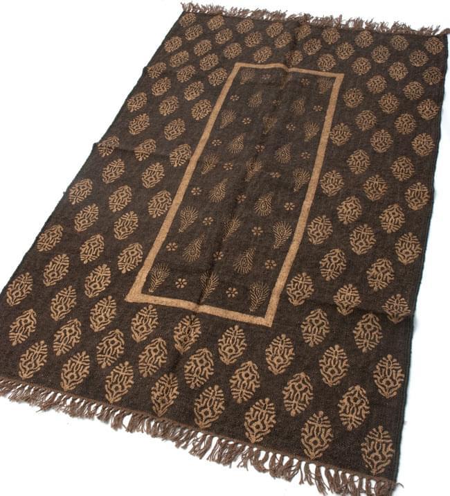 インドのラグ ジュート・ダリー - ゴールド 【約180cm×約120cm】の写真