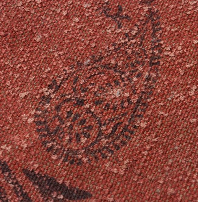 インドのラグ ジュート・ダリー 【約180cm×約120cm】の写真4 - 角の部分をアップにしてみました。