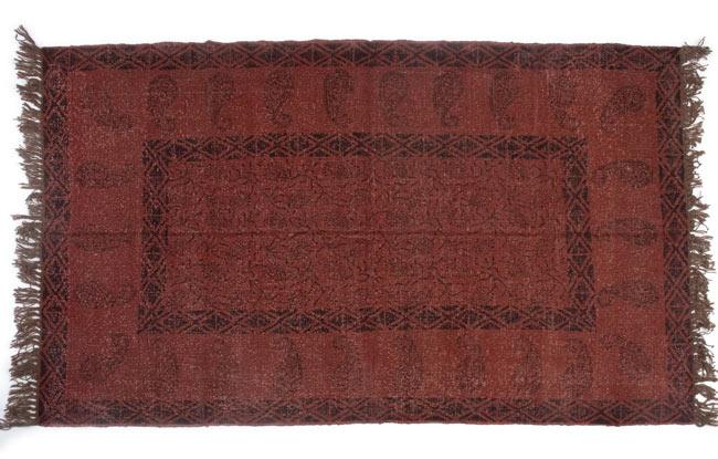 インドのラグ ジュート・ダリー 【約180cm×約120cm】の写真9 - 生地の厚みはこんな感じです