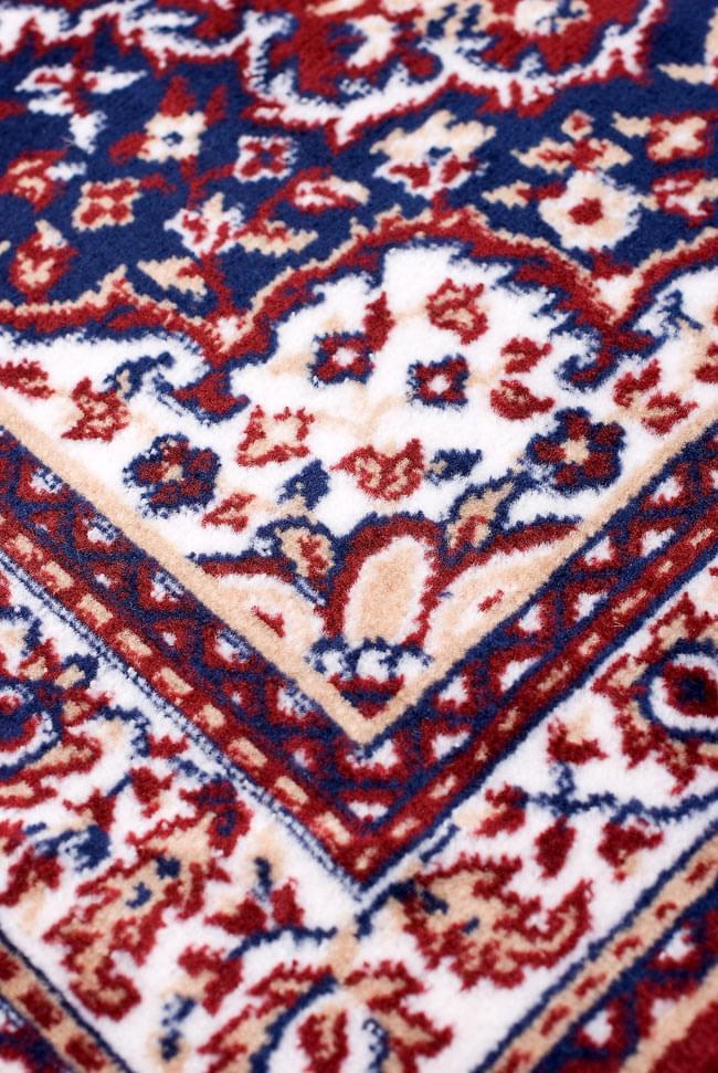 インドのエスニック絨毯 ロング【約110cm×約68cm】 赤の写真6 - 模様の部分を見てみました。