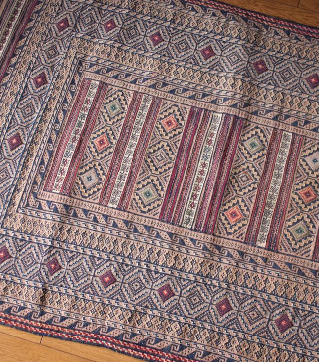 【1点物】ザンスカールの遊牧民のキリム【137cm x 86cm】の写真4 - 部分拡大です