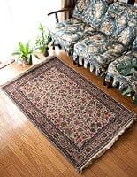 手織りのインド絨毯【約148cm x