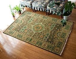 手織りのインド絨毯【約185cm x