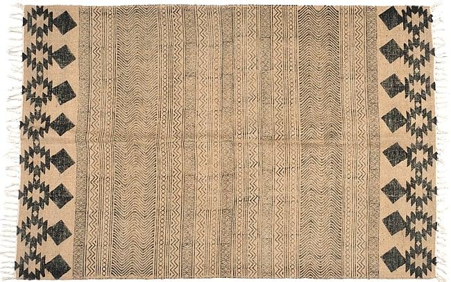 インドのラグ ジュート・ダリー 【約120cm x 200cm】 3 - 商品の全体図です