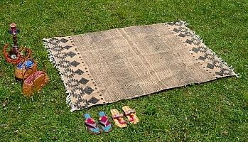 インドのラグ ジュート・ダリー 【約120cm x 200cm】の商品写真