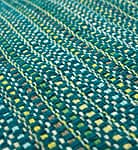 インドコットンの手織りラグマット【約65cm×約42cm】 - ターコイズグリーン