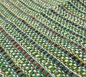 インドコットンの手織りラグマット【約65cm×約42cm】 - アンティークグリーン