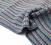 インドコットンの手織りラグマット【約100cm×約60cm】 - 灰色