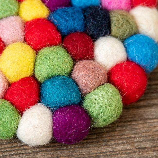 まんまるフェルトマットミニミニ まる の写真3 - コーヒーカップと一緒に。