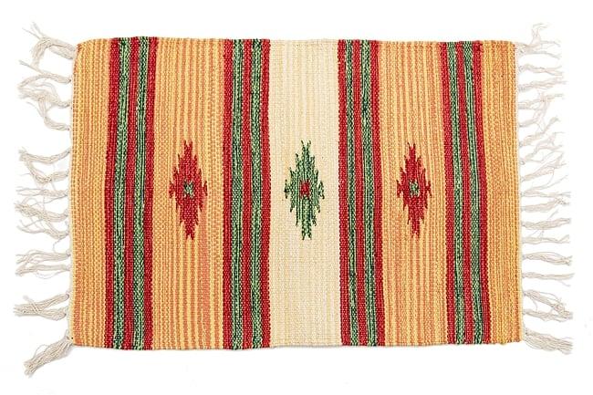インドのキリムラグ【約60cm×約40cm】 9 - デザインA