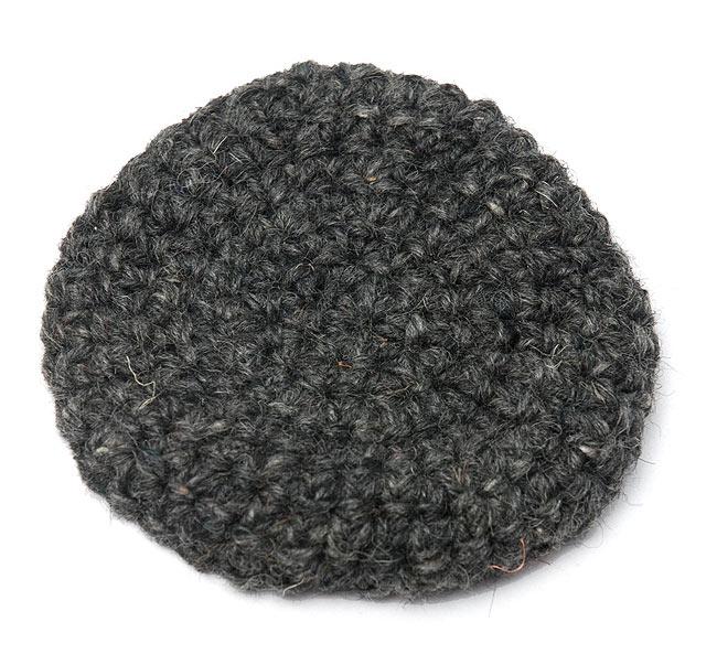 【2枚セット】柔らかコットンコースター - 黒の写真2 - 手作り感が魅力的ですね